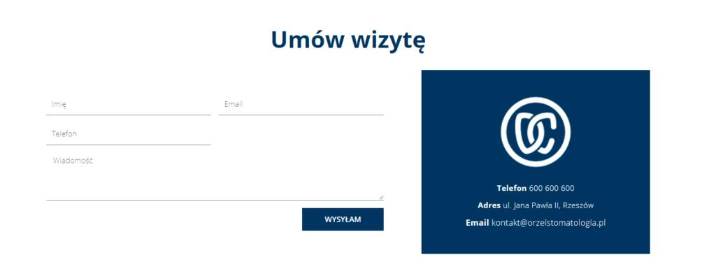 strona internetowa gabinetu